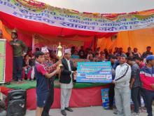 छायाँनाथ रारा नगरपालिका मुगुकाे आयोजनामा संञ्चालित प्रथम मेयर कप २०७६ को पुरस्कार वितरण तथा समापन कार्यक्रम ।