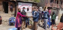 छायाँनाथ रारा नगरपालिका मुगु द्वारा Covid-19 न्यूनिकरणका लागि  आवश्यक पर्ने स्वास्थ्य सामाग्रीहरु  नगरपालिकाका १४ वटै वडाका नागरिकहरूलाई  माक्स, सेनिटाइजर र डिटोल साबुन बितरण कार्यक्रम ।